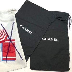Chanel - 2 black dust bags